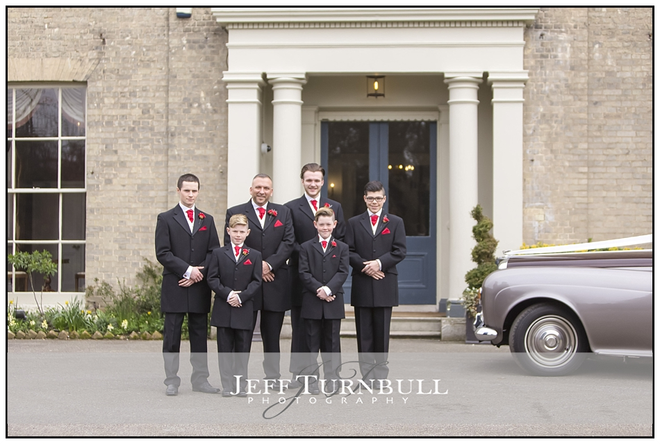 Groom and Ushers Fennes Wedding venue