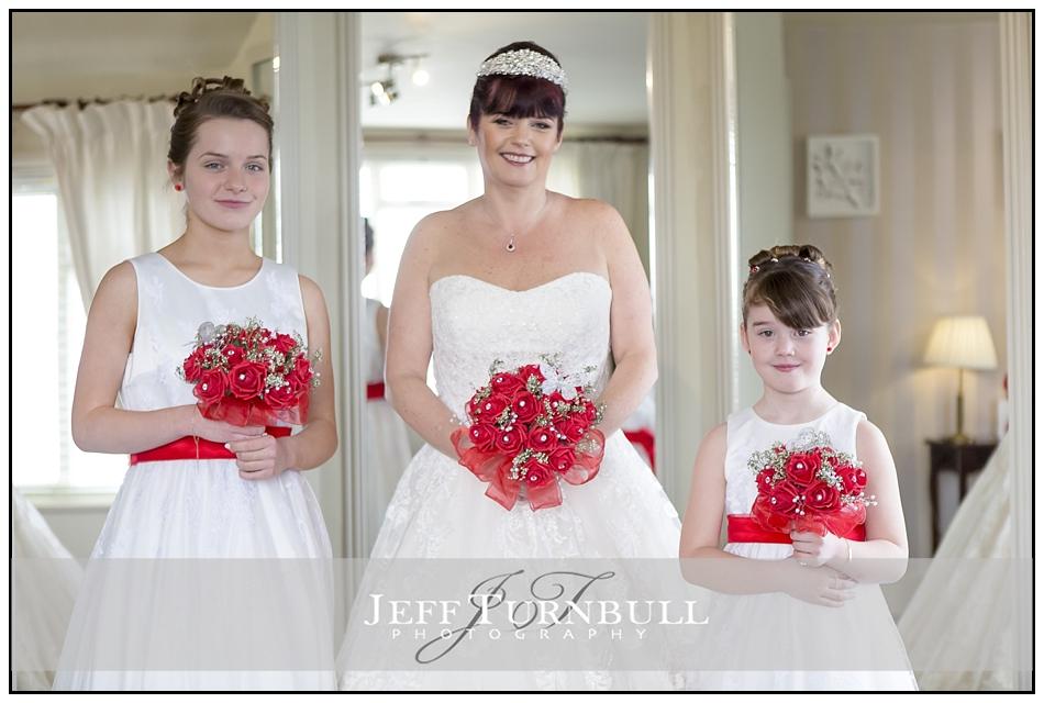 Bride and Bridesmaids Fennes Wedding venue