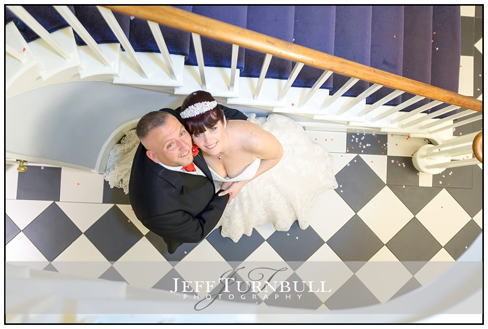 Bride and Groom Staircase at the Fennes Wedding venue