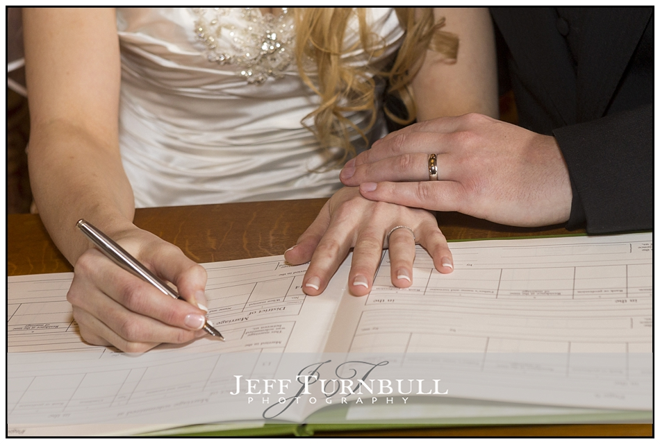 Signing Register Layer Marney Tower Wedding