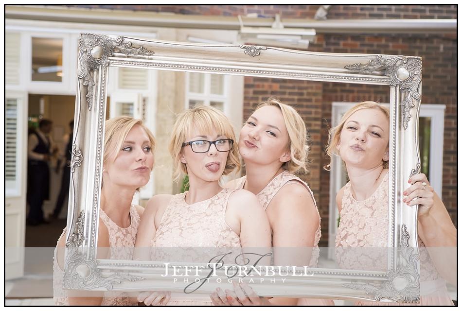 Bridesmaid having fun Pontlands Park