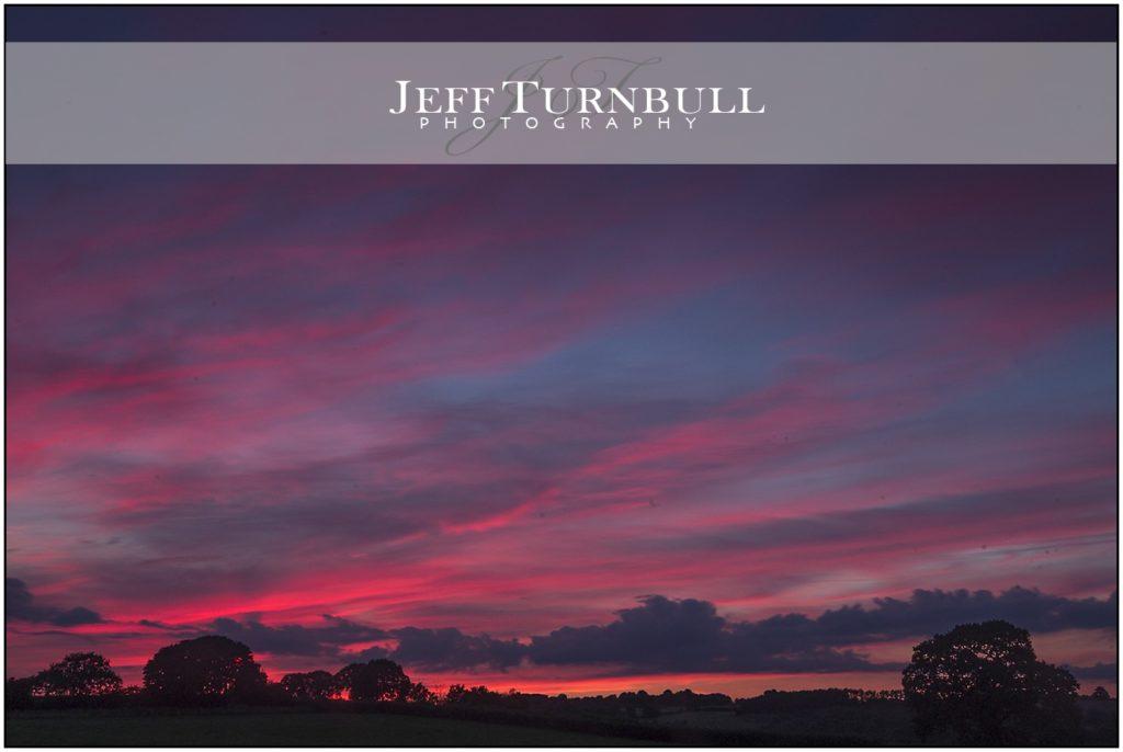 Sunset at Shooting Folly, Cheswardine, Shropshire