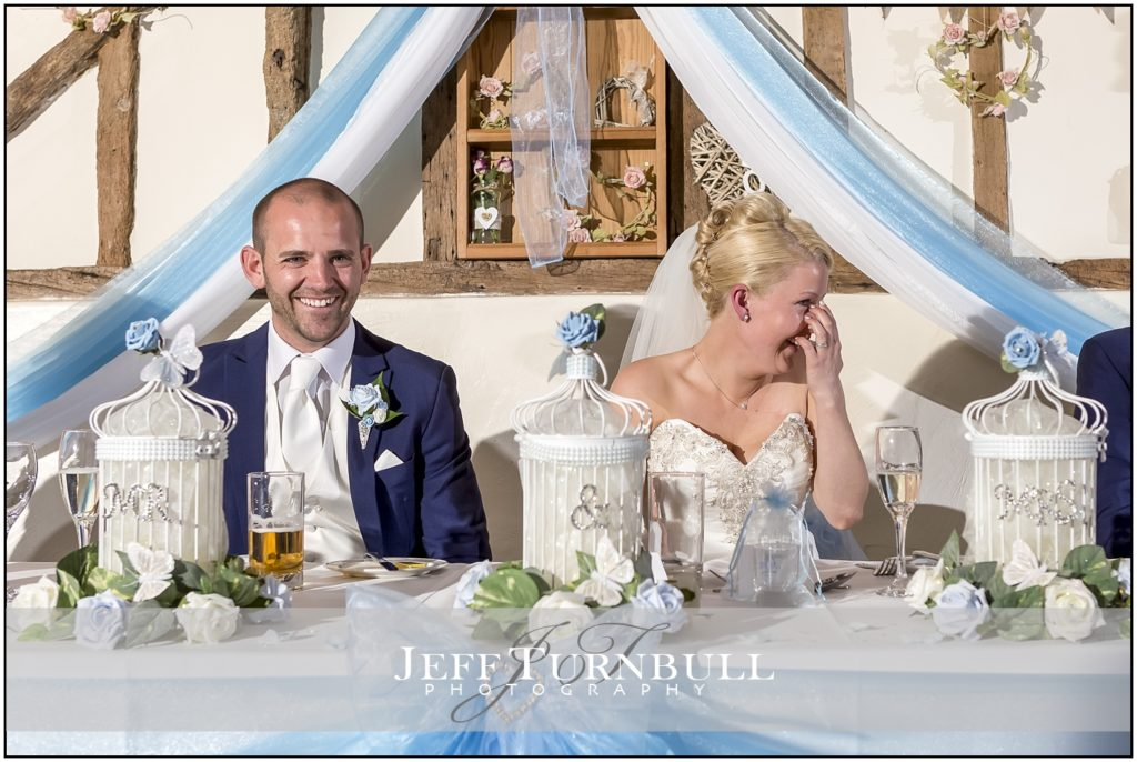 Bride and Groom Laughing The Reid Rooms