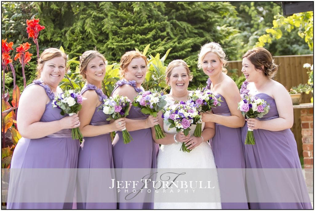 Bride and Bridesmaids High House Weddings