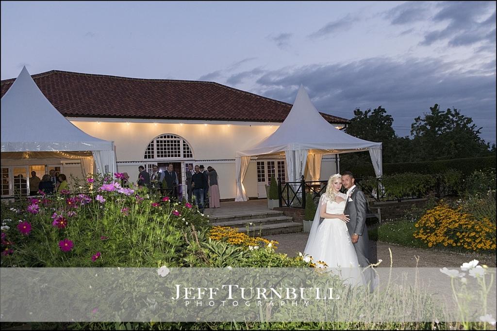 Sunset Wedding Photographs Marks Hall