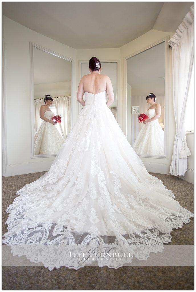 Bride in the Bridal Room at the Fennes Wedding venue