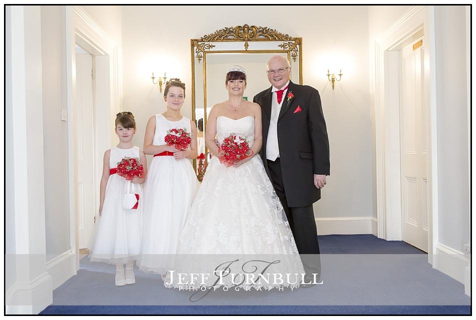 Bride at the Fennes Wedding venue