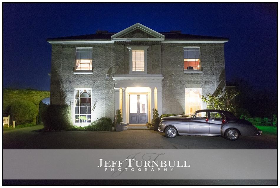 Nighttime photograph Fennes Wedding venue