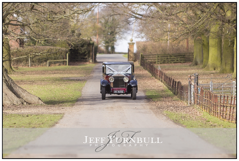 Wedding Car Arriving Layer Marney Tower