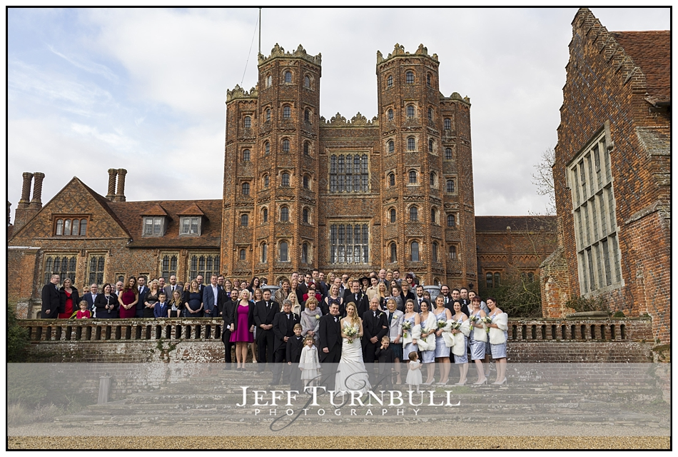 Group Photograph Layer Marney Tower Wedding