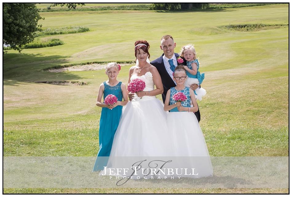 Bride, Groom, Bridesmaids