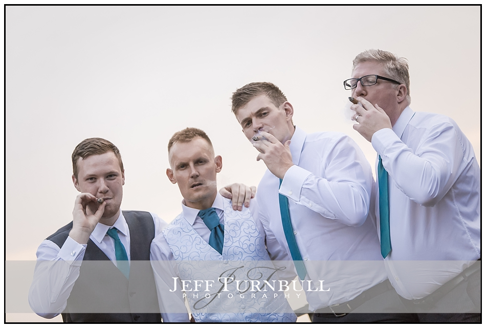 Ushers Smoking Cigars