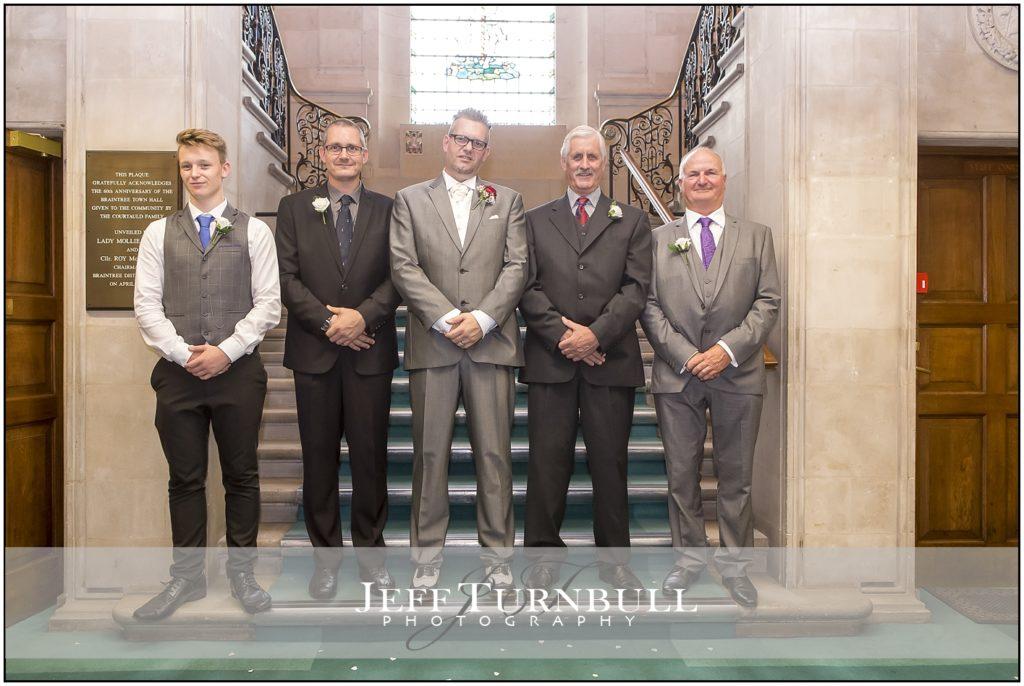 The Grooms Men Braintree Town Hall Weddings
