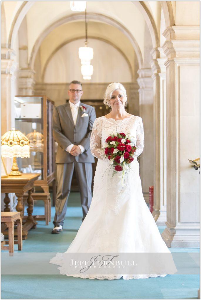 Braintree Town Hall Bride and Groom