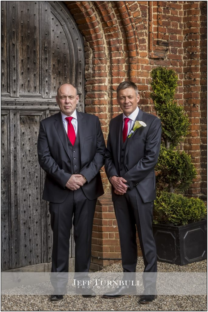 Groom and Best Man Leez Priory
