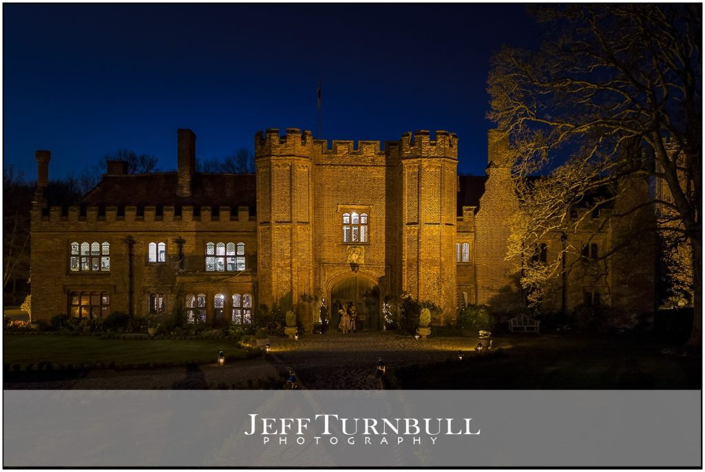 Nighttime Wedding Photography Leez Priory