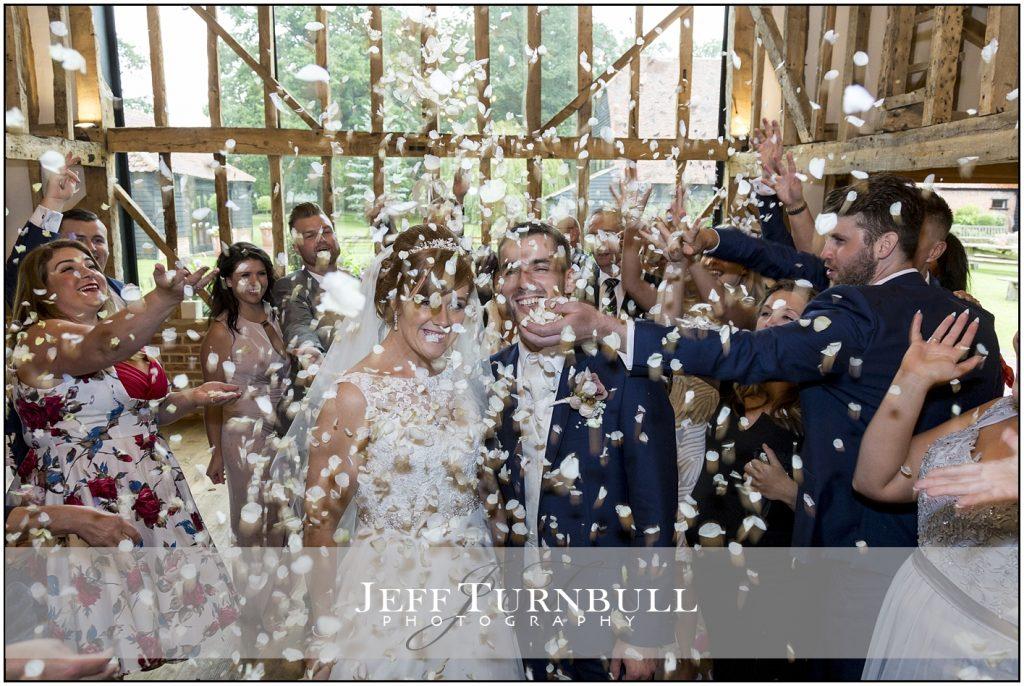 Confetti Shot Blake Hall Wedding Venue