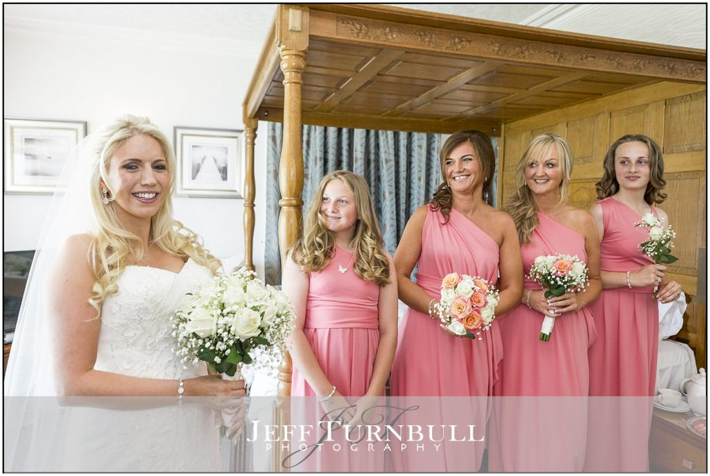 Bride and Bridesmaids Pink Dresses