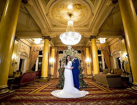 Down Hall Winter Wedding