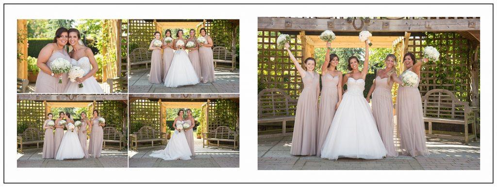Bride and Bridesmaids at Maidens Barn