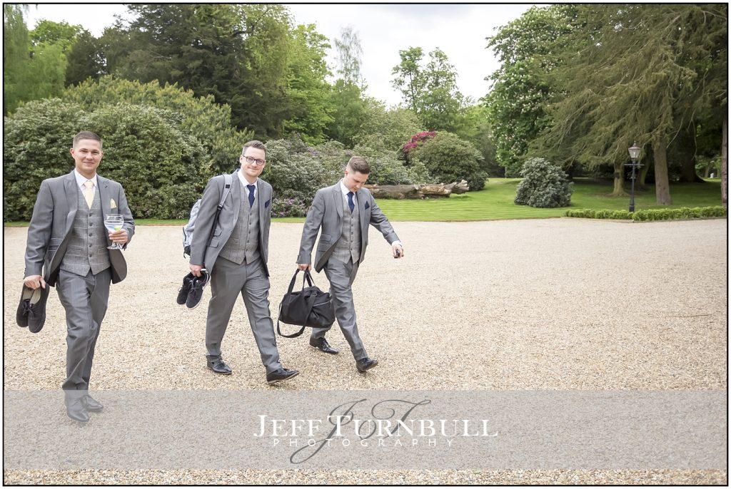 Gosfield Hall Wedding Groomsmen