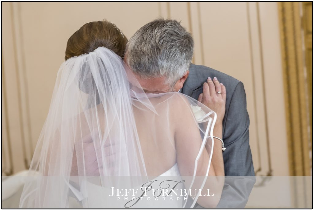 Bride and Father Gosfield Hall