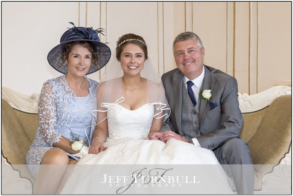 Gosfield Hall Bride and Parents