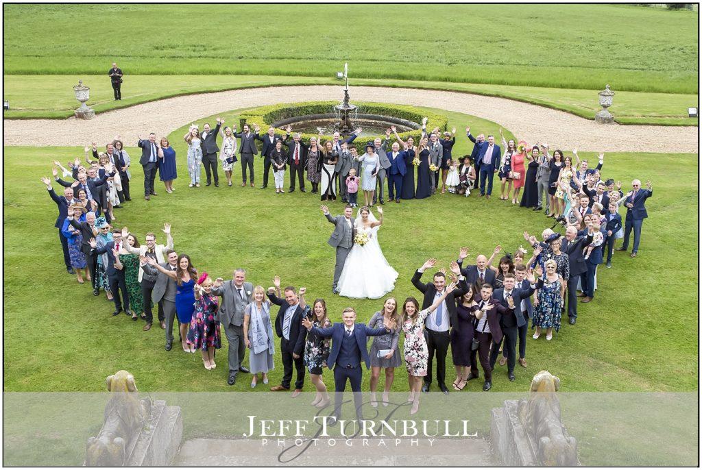 Love Heart Shape Group Photograph Weddings