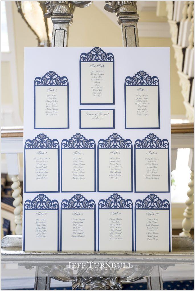 Gosfield Hall Wedding Table Plan